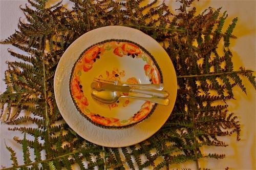 Fern table setting